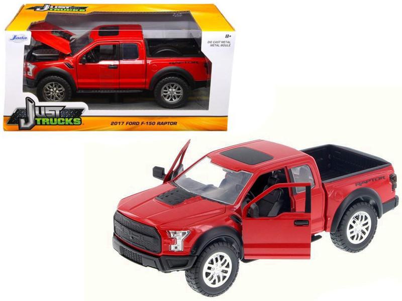 2017 Ford F-150 Raptor Pickup Truck Red 1/24 Diecast Model Car Jada 98581