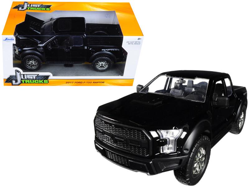 2017 Ford F-150 Raptor Pickup Truck Black 1/24 Diecast Model Car Jada 98582