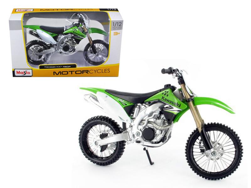 Kawasaki KX 450F Green Motorcycle Model 1/12 Bike Maisto 31175