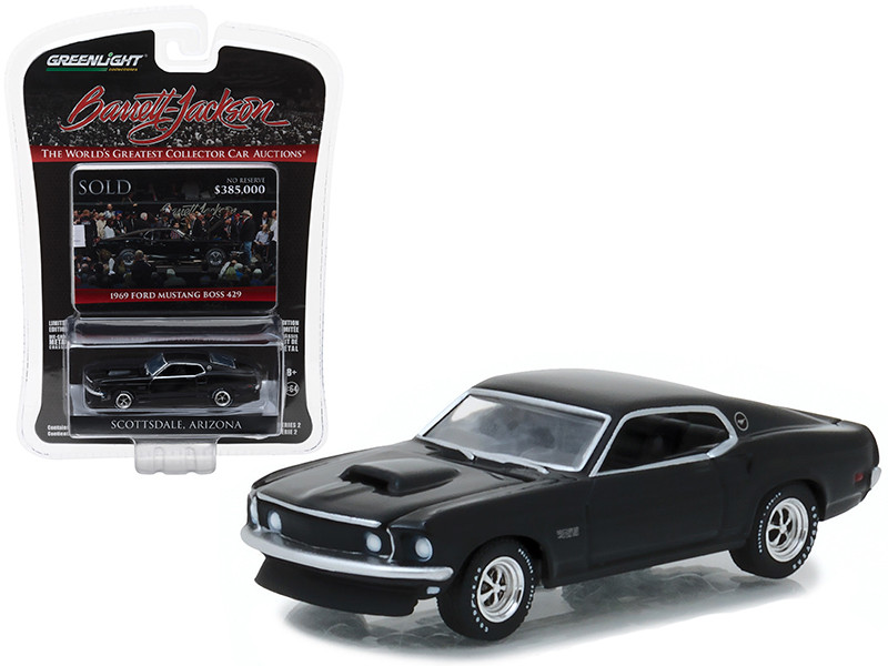1969 Ford Mustang Boss 429 Black Barrett Jackson Scottsdale Edition Series 2 1/64 Diecast Model Car Greenlight 37130 C