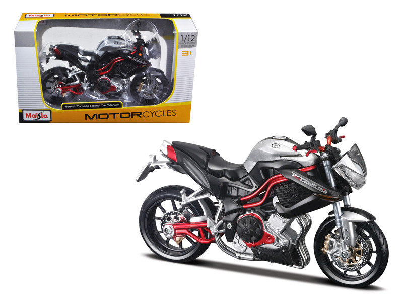 Benelli Tornado Naked Tre Titanium Motorcycle 1/12 Diecast Model by Maisto