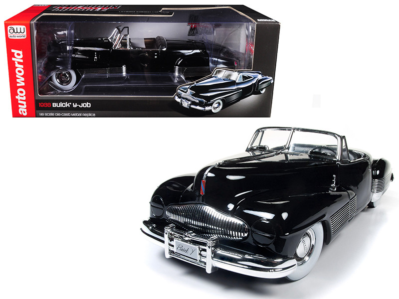 1938 Buick Y-Job Black Limited Edition to 1002pc 1/18 Diecast Model Car Autoworld AMM1120