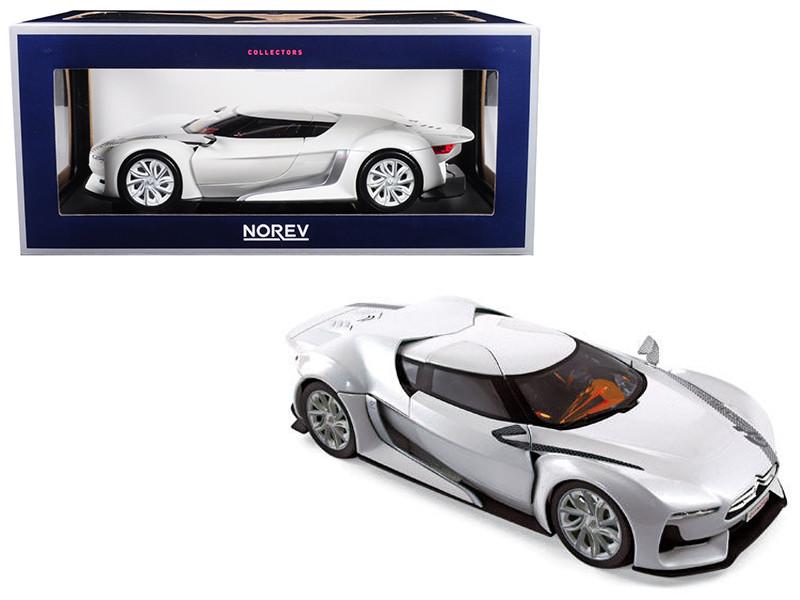 Citroen Concept GT White Salon de Paris 2008 1/18 Diecast Model Car Norev 181610