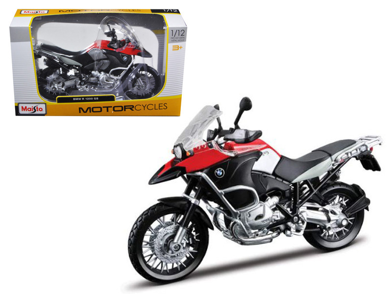 BMW R1200GS Red Motorcycle 1/12 Diecast Model Maisto 31157