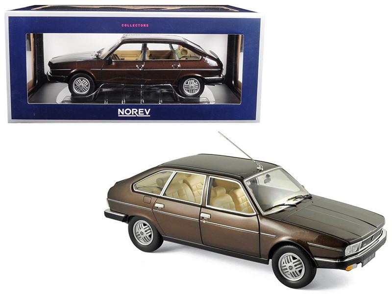 1981 Renault 30 TX Bronze Brown 1/18 Diecast Model Car Norev 185271