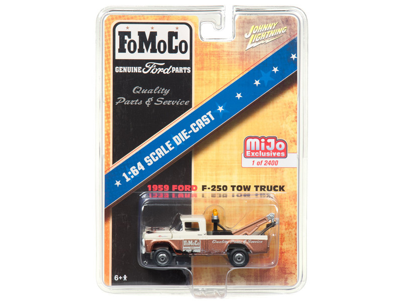 1959 Ford F-250 Tow Truck FOMOCO Limited Edition of 2400 pieces Worldwide 1/64 Diecast Model Car Johnny Lightning JLCP7037