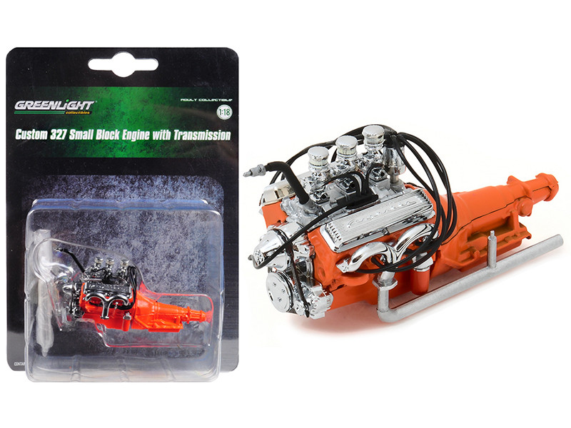 1932 Ford Hot Rod Engine and Transmission Replica 1/18 Greenlight 12977