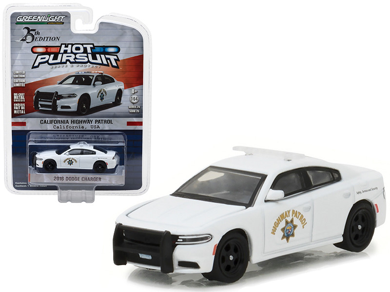 2016 Dodge Charger California Highway Patrol CHP White 1/64 Diecast Model Car Greenlight 42820 F