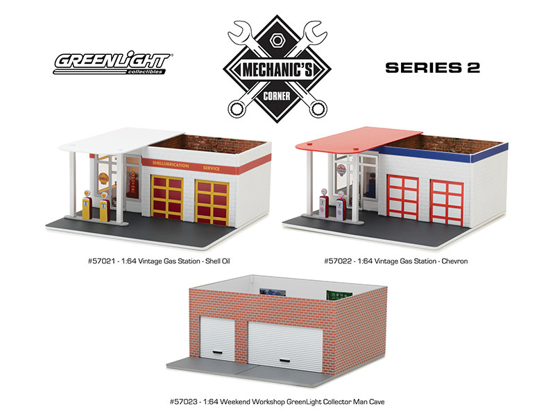 Mechanic's Corner Series 2 3 pc Set 1/64 Greenlight 57021 57022 57023
