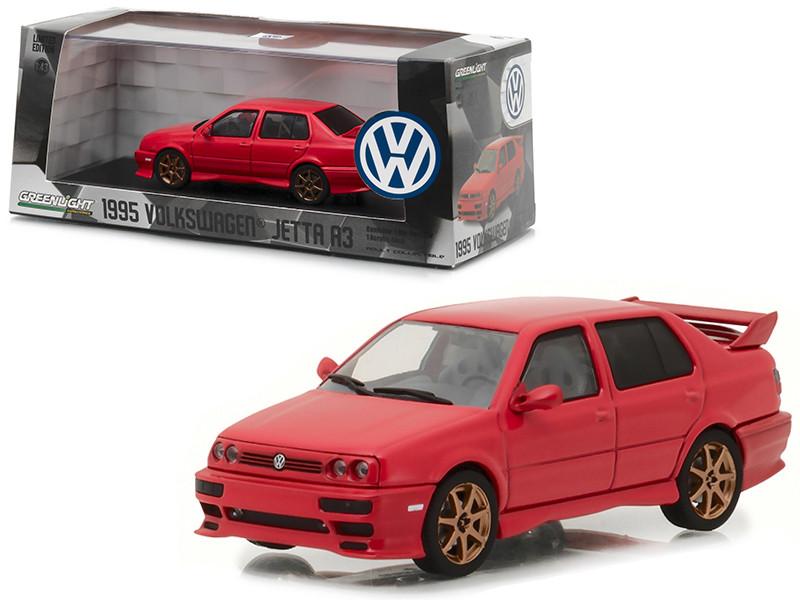 1995 Volkswagen Jetta A3 Red 1/43 Diecast Model Car Greenlight 86313