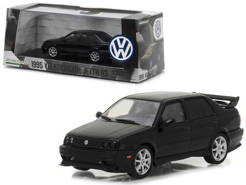 1995 Volkswagen Jetta A3 Black 1/43 Diecast Model Car Greenlight 86314
