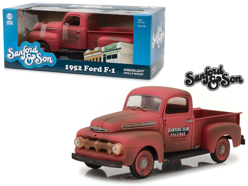 1952 Ford F-1 Pickup Truck Sanford Son Tv Series 1/18 Diecast Model Car Greenlight 12997