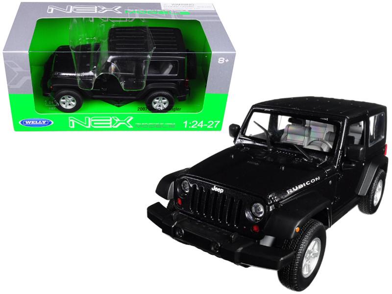 2007 Jeep Wrangler Dark Gray Metallic 1/24 1/27 Diecast Model Car Welly 22489