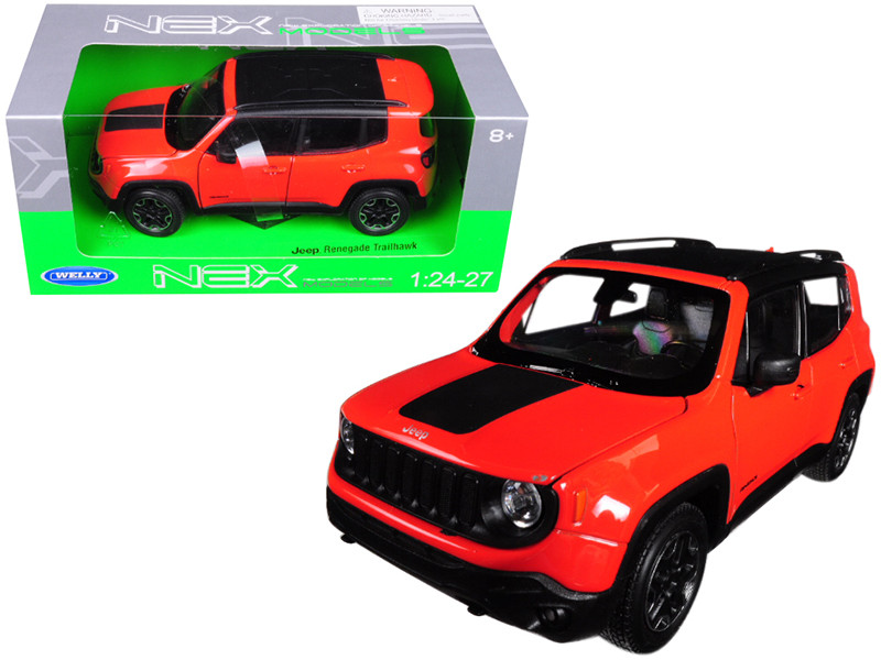 Jeep Renegade Trailhawk Orange 1/24 1/27 Diecast Model Car Welly 24071