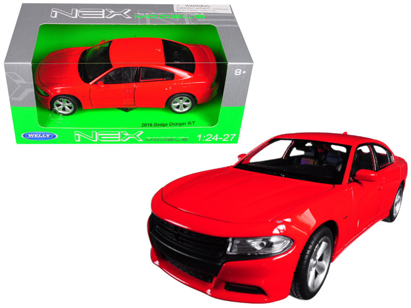 2016 Dodge Charger R/T Red 1/24 1/27 Diecast Model Car Welly 24079