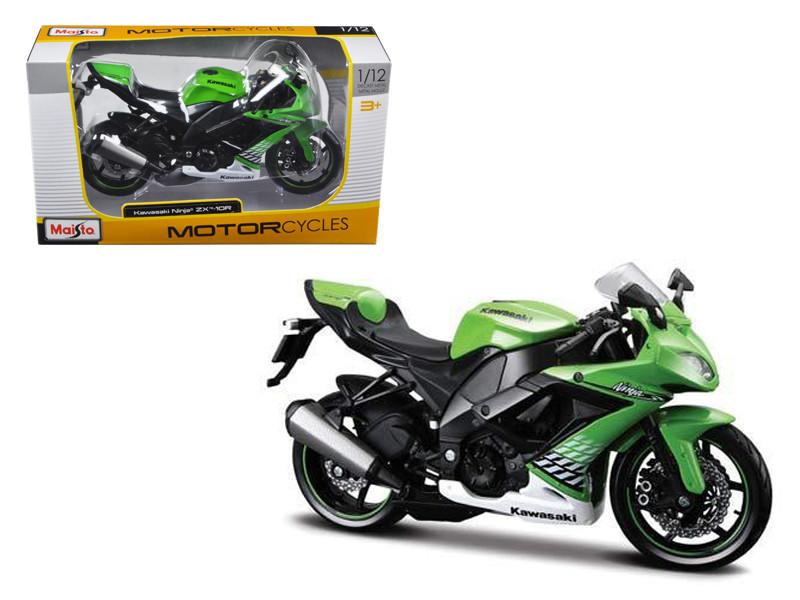 2010 Kawasaki Ninja ZX-10R Green Bike 1/12 Motorcycle Model by Maisto