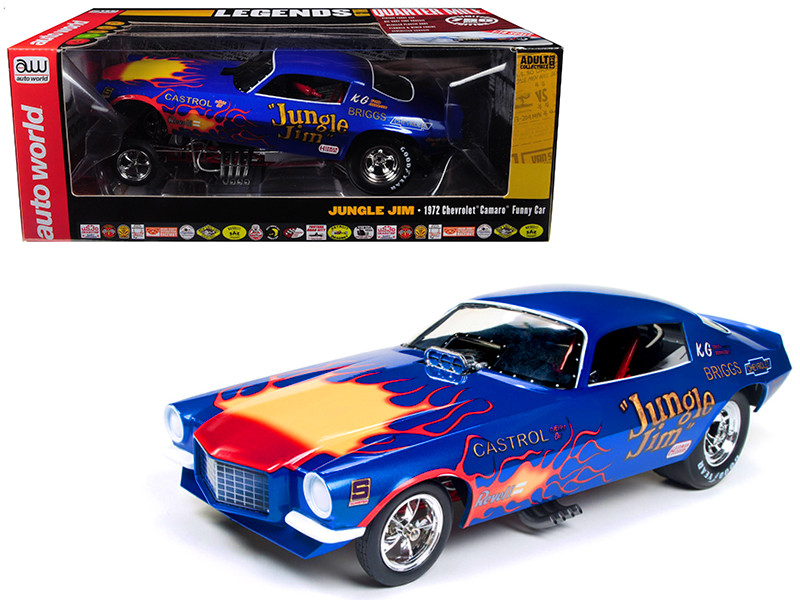 1972 Chevy Camaro Jungle Jim Funny Car Limited Edition to 750 pieces 1/18 Diecast Model Car Autoworld AW1180