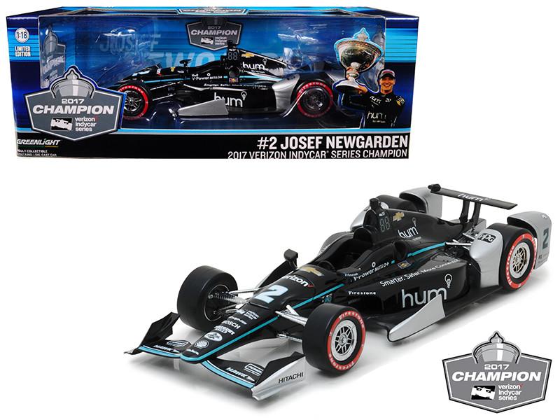 2017 Indy Car Champion #2 Josef Newgarden Penske Racing Hum by Verizon 1/18 Diecast Model Car Greenlight 11021
