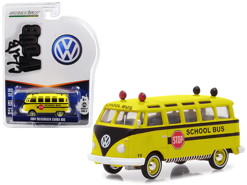 1964 Volkswagen Samba School Bus Vee Dub Series 6 1/64 Diecast Model Car Greenlight 29890 B