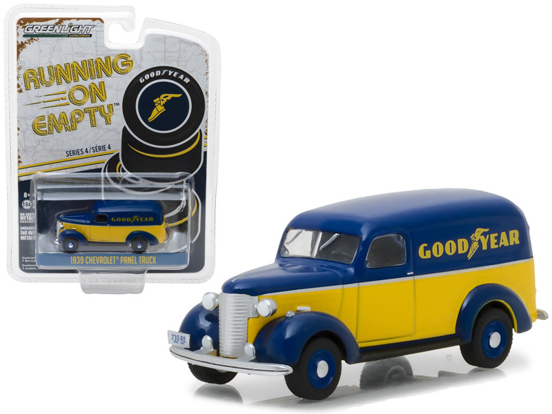 1939 Chevrolet Panel Truck Goodyear Tires Running on Empty Series 4 1/64 Diecast Model Car Greenlight 41040 B