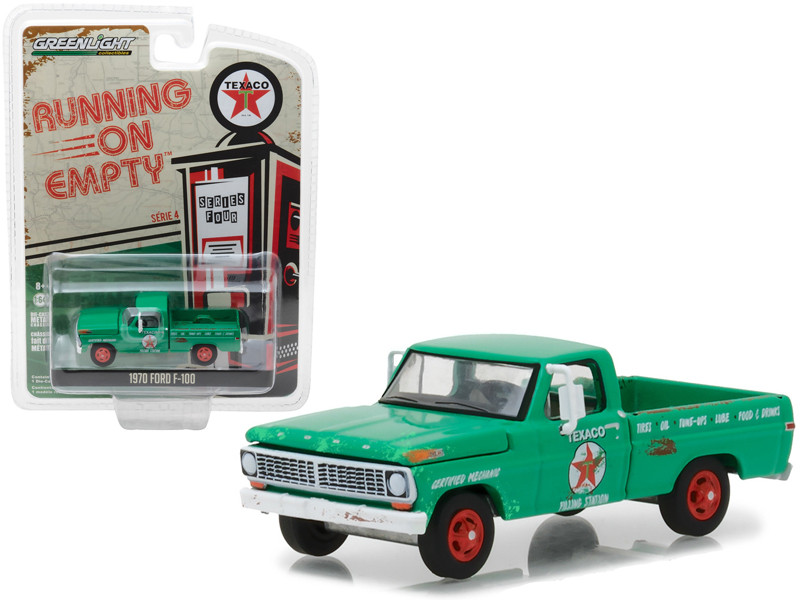 1970 Ford F-100 Texaco Filing Station Running on Empty Series 4 1/64 Diecast Model Car Greenlight 41040 D