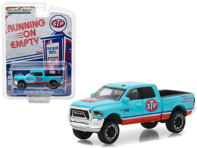 2017 Dodge Ram 2500 Power Wagon STP Air Filter Running on Empty Series 4 1/64 Diecast Model Car Greenlight 41040 F