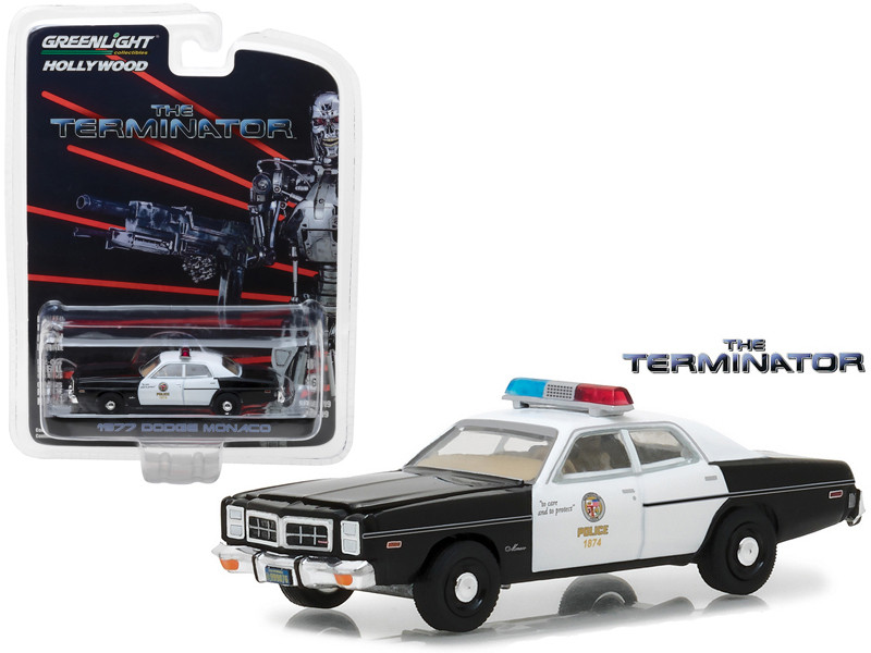 1977 Dodge Monaco The Terminator Movie 1984 Hollywood Series 19 1/64 Diecast Model Car Greenlight 44790 C
