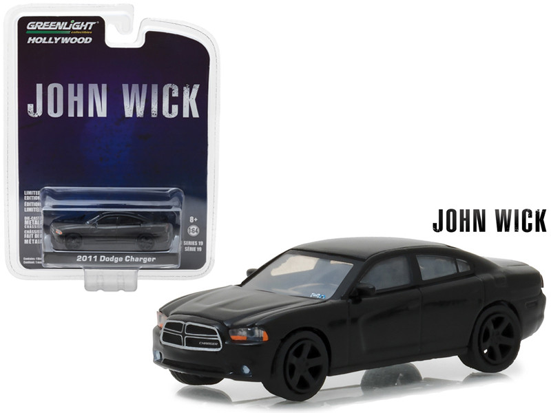 2011 Dodge Charger John Wick Movie 2014 Hollywood Series 19 1/64 Diecast Model Car Greenlight 44790 E