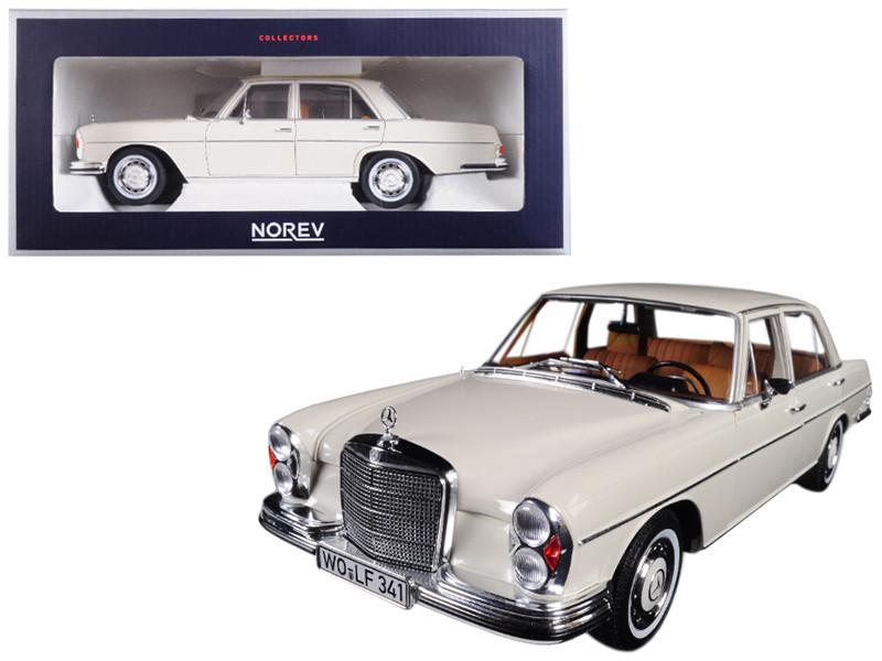 1968 Mercedes 280 SE Ivory 1/18 Diecast Model Car Norev 183569