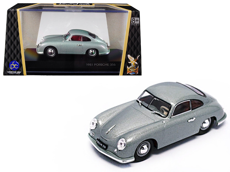 1951 Porsche 356 Coupe Silver 1/43 Diecast Model Car Road Signature 43217