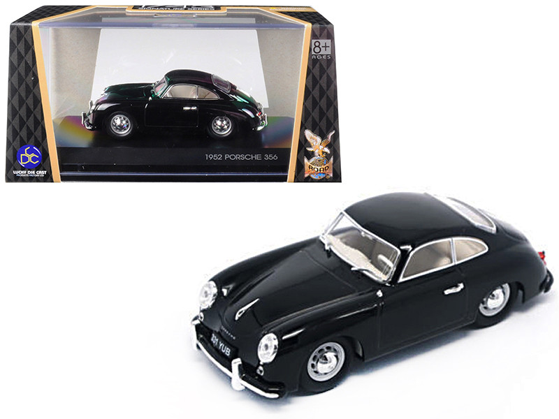 1952 Porsche 356 Coupe Black 1/43 Diecast Model Car Road Signature 43218