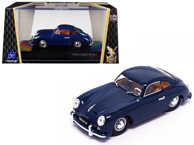 1952 Porsche 356 Coupe Dark Blue 1/43 Diecast Model Car Road Signature 43218