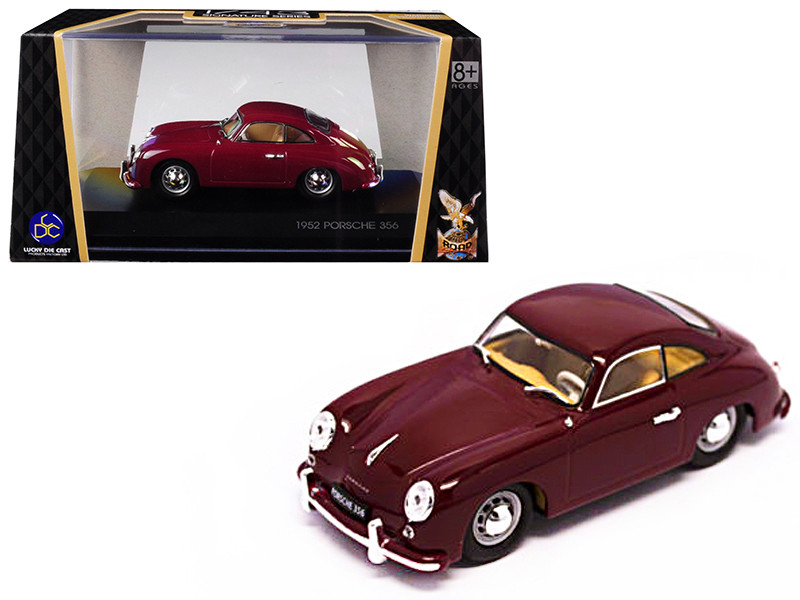 1952 Porsche 356 Coupe Burgundy 1/43 Diecast Model Car by Road Signature 43218