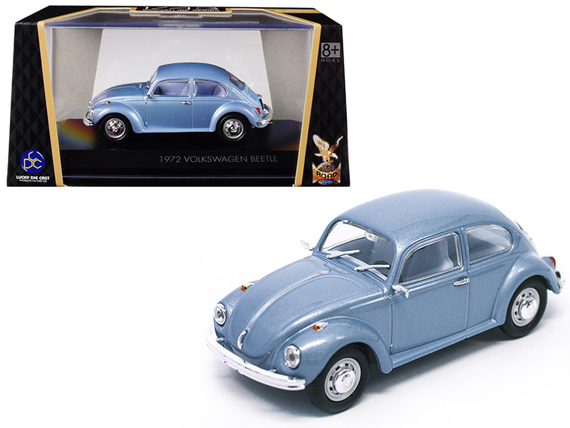 1972 Volkswagen Beetle Metallic Blue 1/43 Diecast Model Car Road Signature 43219