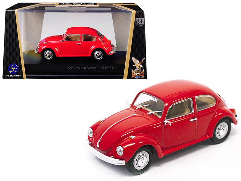 1972 Volkswagen Beetle Red 1/43 Diecast Model Car Road Signature 43219