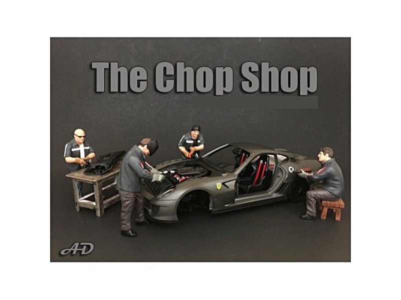 Chop Shop 4 Piece Figure Set for 1:18 Scale Models American Diorama 38159 38160 38161 38162