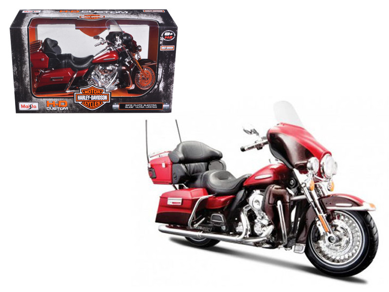2013 Harley Davidson FLHTK Electra Glide Ultra Limited Red Bike Motorcycle Model 1/12 Maisto 32323