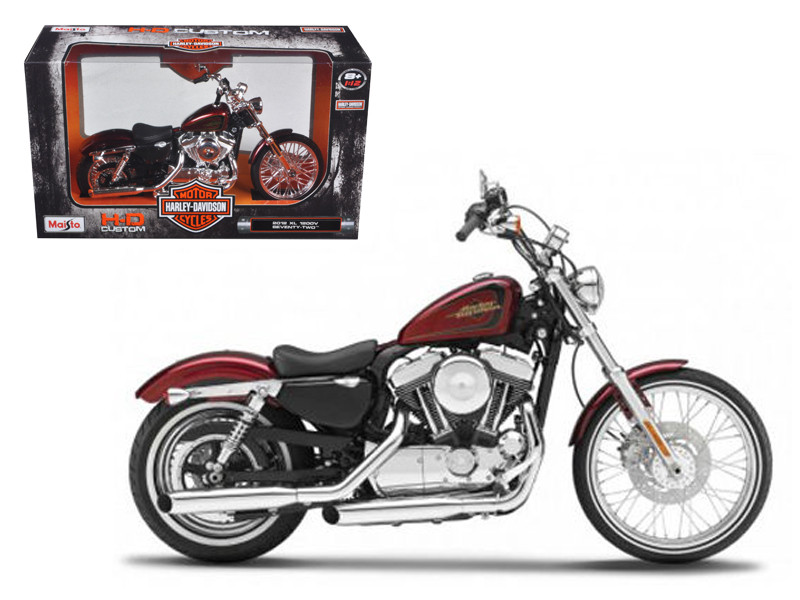 2012 Harley Davidson XL 1200V Seventy Two Motorcycle Model 1/12 Maisto 32324