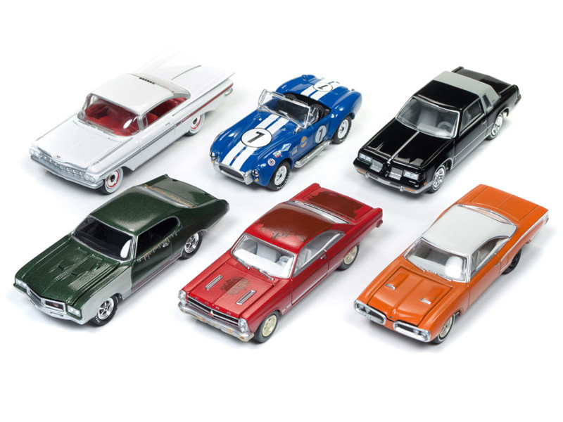 Muscle Cars USA 2018 Release 1 Set B of 6 Cars 1/64 Diecast Model Cars Johnny Lightning JLMC012 B