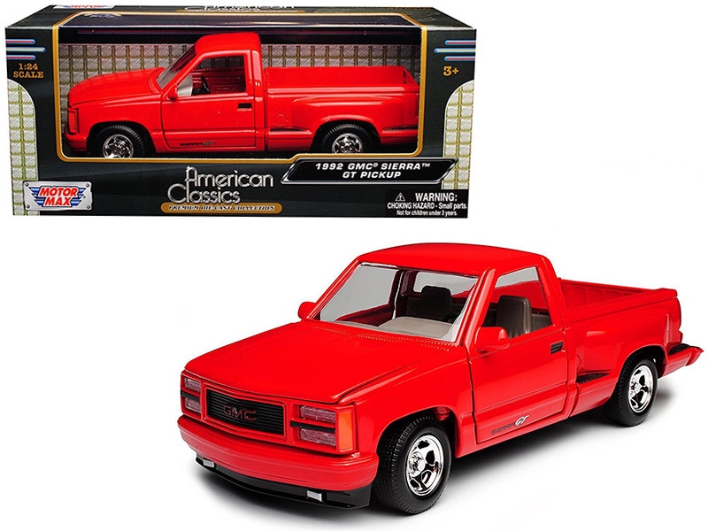 1992 GMC Sierra GT Red Pickup Truck 1/24 Diecast Model Motormax 73204