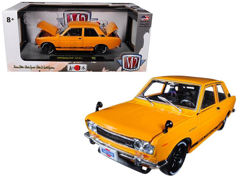 1970 Datsun 510 Bronze Yellow Auto-Japan 1/24 Diecast Model Car M2 Machines 40300-60