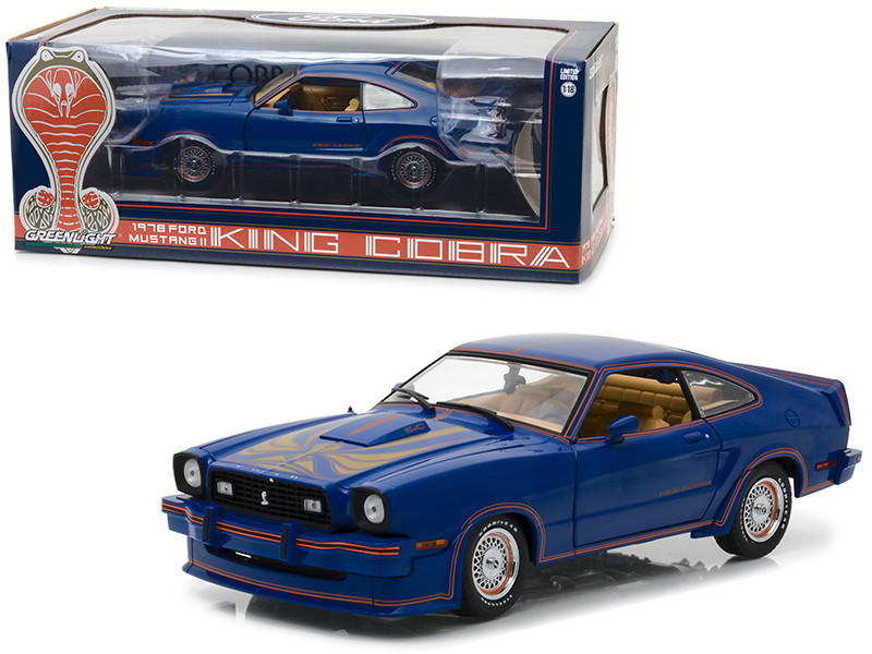 1978 Ford Mustang II King Cobra Blue 1/18 Diecast Car Model Greenlight 13507