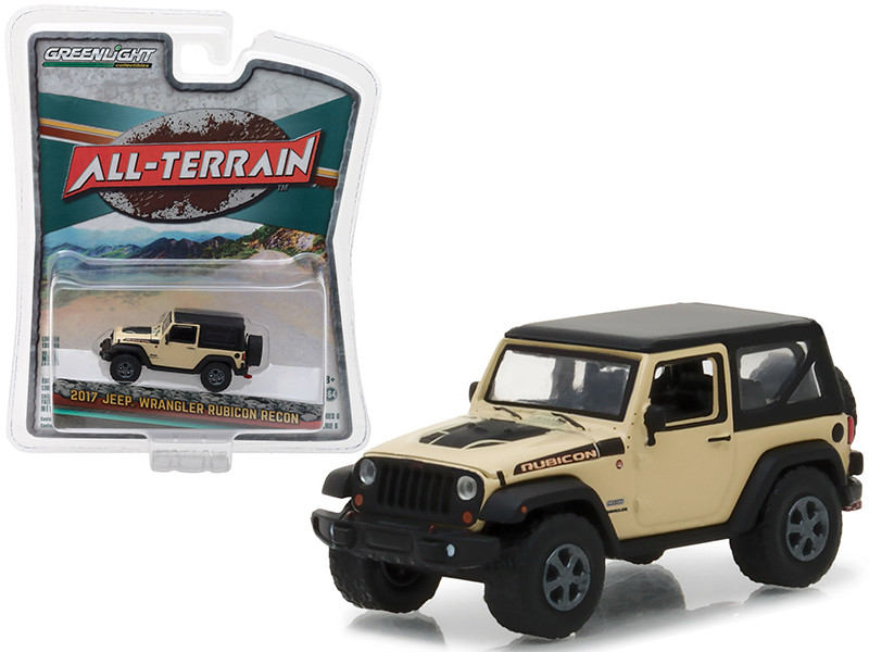 2017 Jeep Wrangler Rubicon Recon Sand All Terrain Series 6 1/64 Diecast Model Car Greenlight 35090 E
