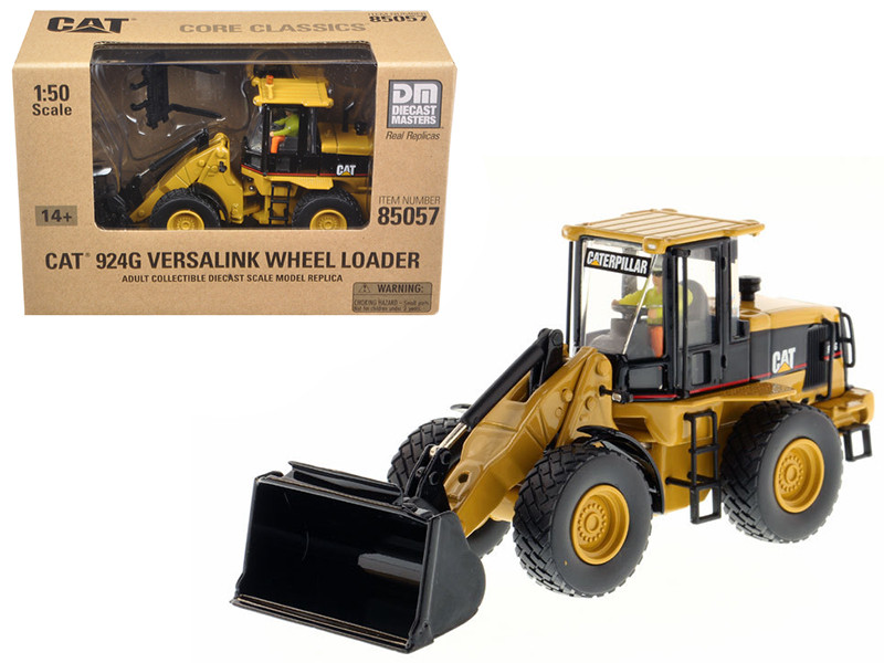CAT Caterpillar 924G Versalink Wheel Loader with Work Tools Core Classics Series with Operator 1/50 Diecast Masters 85057