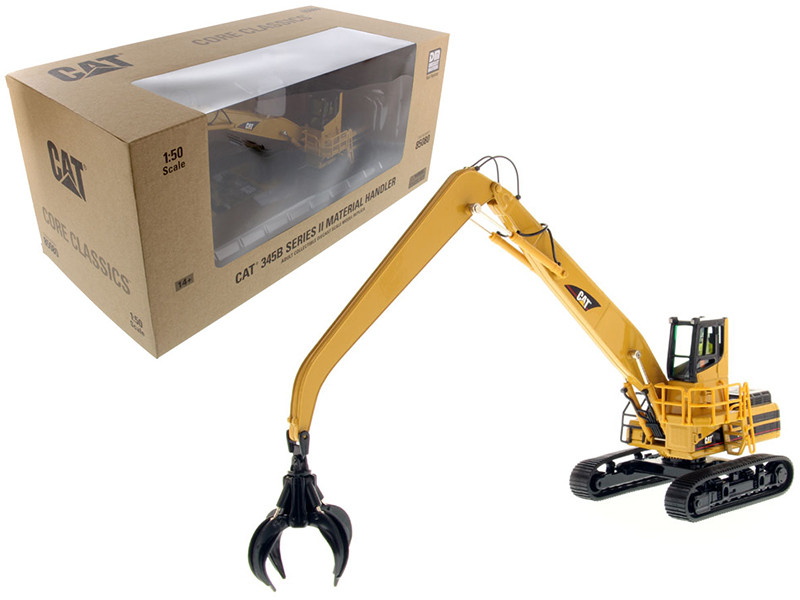 CAT Caterpillar 345B Series II Material Handler with Operator and Tools Core Classic Series 1/50 Diecast Model Diecast Masters 85080