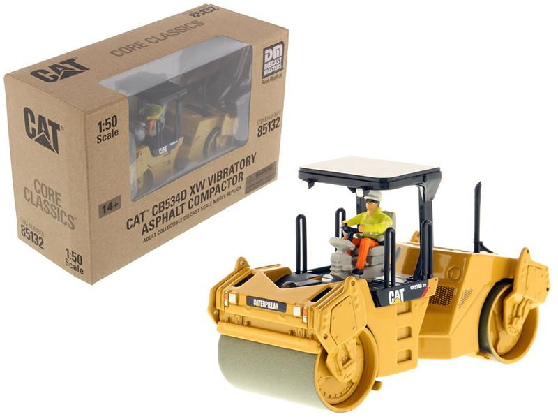 CAT Caterpillar CB-534D XW Vibratory Asphalt Compactor Roller Core Classics Series with Operator 1/50 Diecast Model Diecast Masters 85132