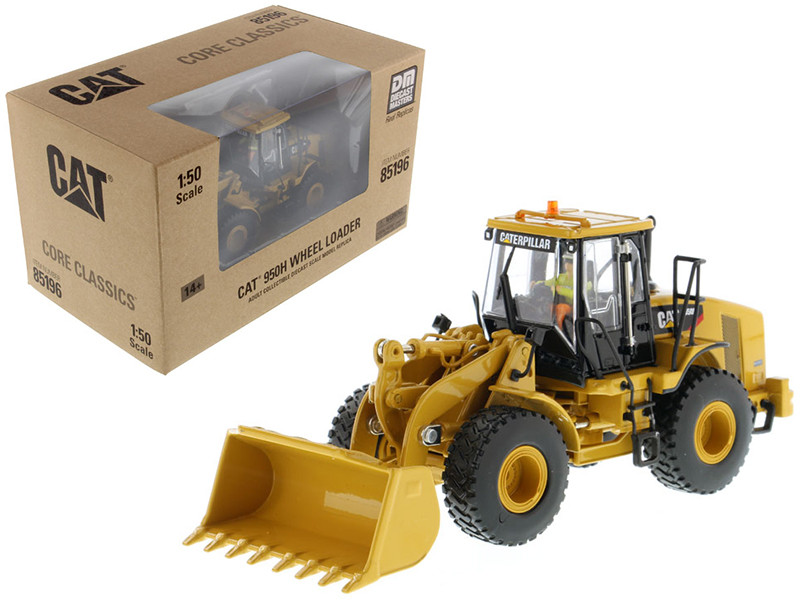 CAT Caterpillar 950H Wheel Loader with Operator 1/50 Diecast Model Diecast Masters 85196