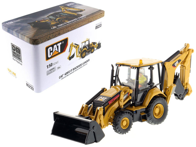 CAT Caterpillar 420F2 IT Backhoe Loader High Line Series with Operator 1/50 Diecast Model Diecast Masters 85233