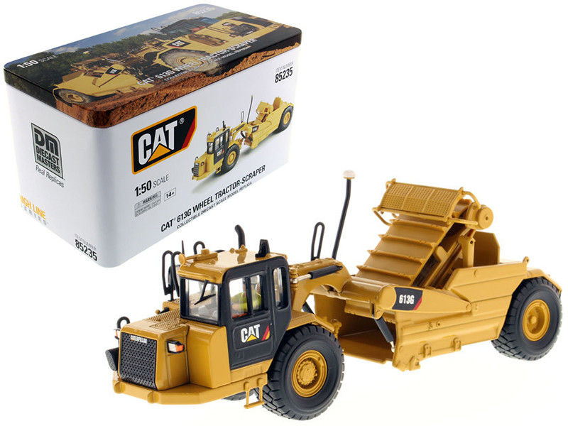 CAT Caterpillar 613G Wheel Scraper with Operator High Line Series 1/50 Diecast Model Diecast Masters 85235