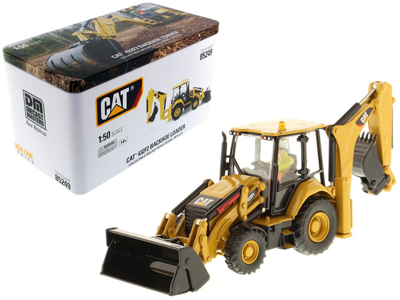 CAT Caterpillar 432F2 Backhoe Loader High Line Series with Operator 1/50 Diecast Model Diecast Masters 85249